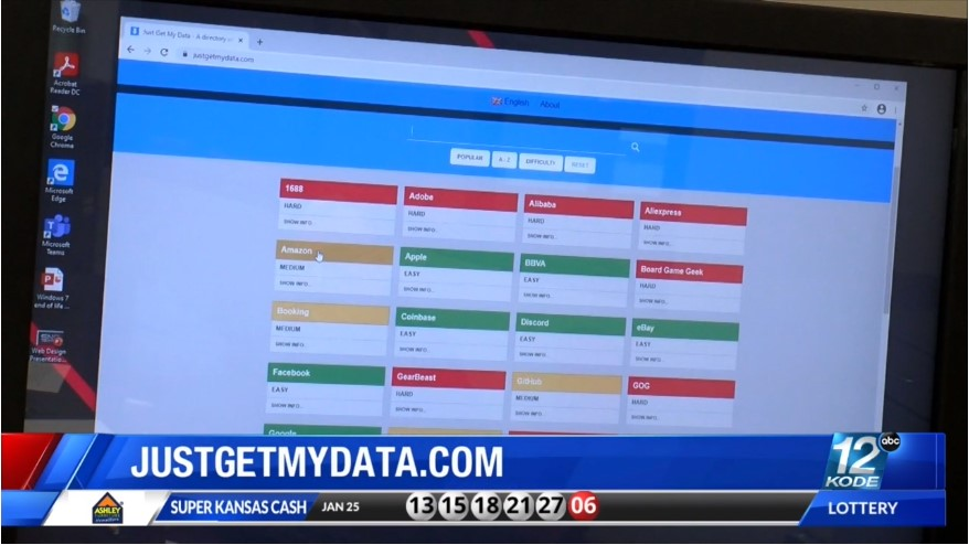 Justgetmydata.com shows site where personal information may be listed