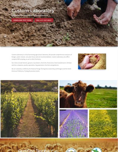 SW Missouri Agricultural Website Design