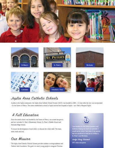 Joplin Area Private School Website